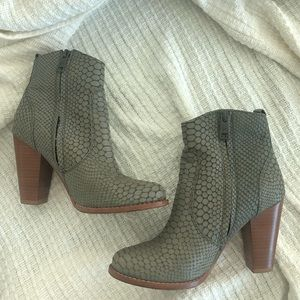 Joie Dalton Snakeskin Bootie Grey Size 36.5